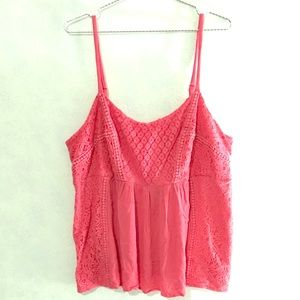 Beautiful coral lace top from Torrid 💜
